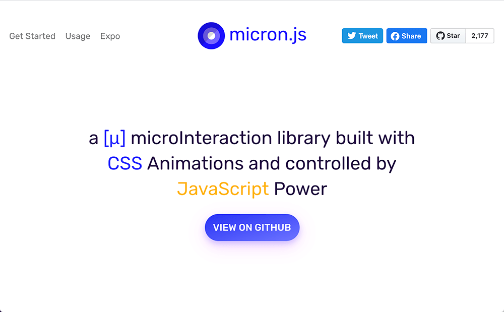 microInteraction library built with CSS Animations